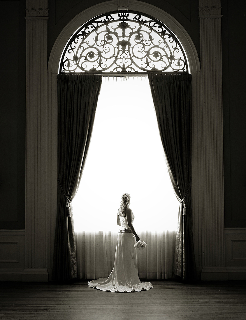 A bride awaits.